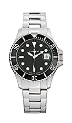 Dugena Mens Wrist Watch Diver Analog Quartz Stainless Steel 4460421