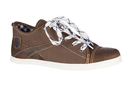 Spieth & Wensky Trachten Herren Sneaker - STAVEN - blau, braun, Größe 40