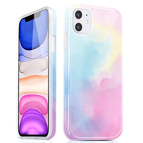 Vimorco iPhone 11 Case, Full-Body Protector Anti-Fall Soft Silicone Lightweight TPU Case for iPhone 11 6.1 Inch 2019 (Watercolor)
