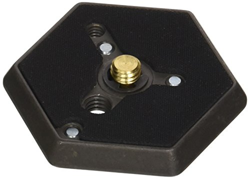 Manfrotto 130-38 Hexagonal Quick Release Mounting Plate with 3/8-Inch Thread and Flush Mount Screw