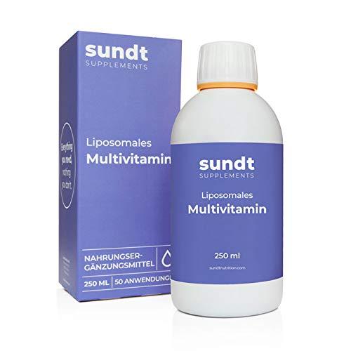 Multivitamin Vitamin Saft Liposomal 250 ml flüssig | Vitamine und Nährstoffe | hohe Bioverfügbarkeit | für einen gesunden und starken Körper | Zucker & GMO-frei | Sundt Supplements