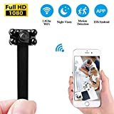 KAMRE Mini Wireless Security Camera, 1080P Portable DIY Pinhole Camera for Home Security Monitoring Nanny Cam Video Recorder Night Vision Motion Detection