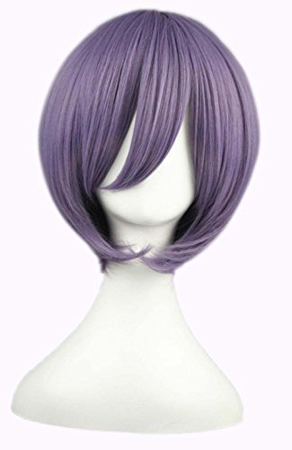 etruke Anime court Violet Droite Halloween Costume Cosplay Perruques