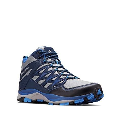 Columbia Men's WAYFINDER MID Outdry Hiking Shoe, Monument, Blue Jay, 12 Regular US