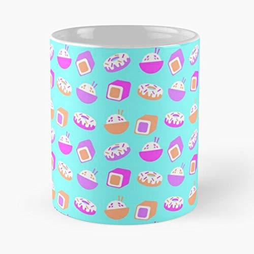 Kawaii Food Japanese Chinese Donut Wok Sushi Pastel Best 11 Ounce Ceramic Coffee Mug