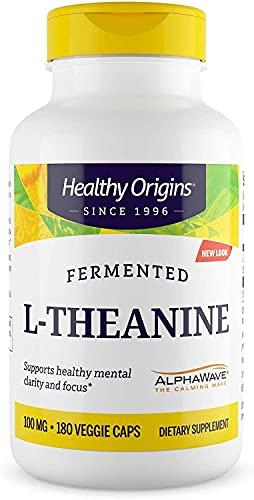 Healthy Origins L-Theanine (AlphaWave) 100 mg, 180 Veggie Caps