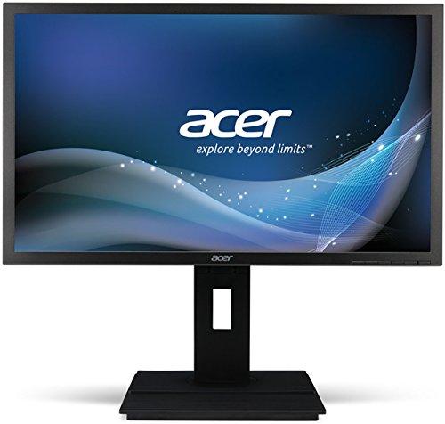 Acer B246HYLAymidr 60,5 cm (23,8 Zoll) Monitor (VGA, DVI, HDMI, 6ms Reaktionszeit, Full HD, Höhenverstellbar, Pivot-Funktion, Lautsprecher, Energieeffienzklasse A) dunkelgrau