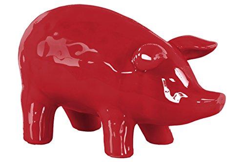 Urban Trends Red 6  Ceramic Standing Pig Figurine LG Gloss Finish  Large