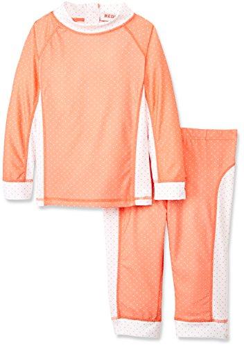 RED WAGON Mädchen Badeanzug Swimset, Rosa (Coral), 110 (Herstellergröße: 5 Jahre)