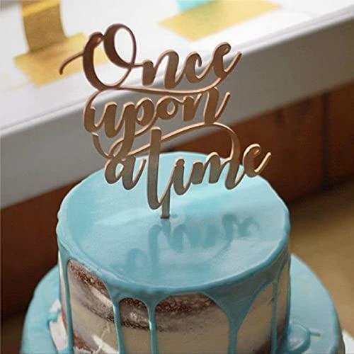 Decoración para tartas de decoración romántica para bodas, decoración de tartas con diseño de cuento de hadas