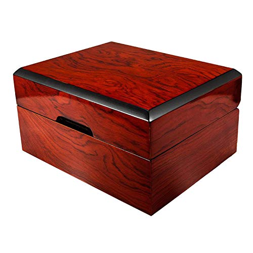 Hellery 1 Uhrengehäuse, MDF Box, Mahagoni Lack Uhrengehäuse Schublade Schmuck Display Organizer