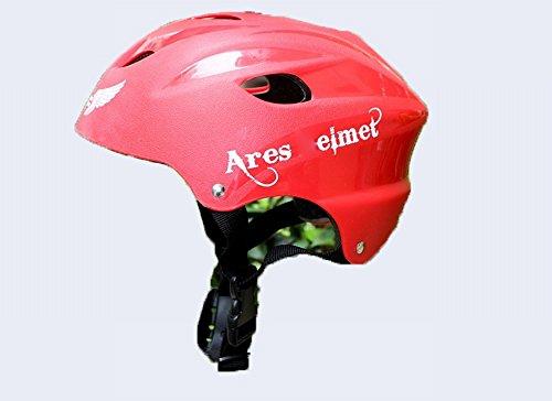 GJJ Sportschutzausrüstung Persönlichkeit Ares Helm Helm Rollschuhe Außenreithelm Kopfwerkzeug,Rot,Einheitsgröße