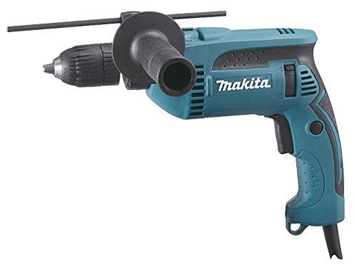 Makita HP1631 HP1631-Taladro eléctrico, AC, 75 mm, 296 mm, 204 mm, 710 W, 230 V, Negro, Turquesa