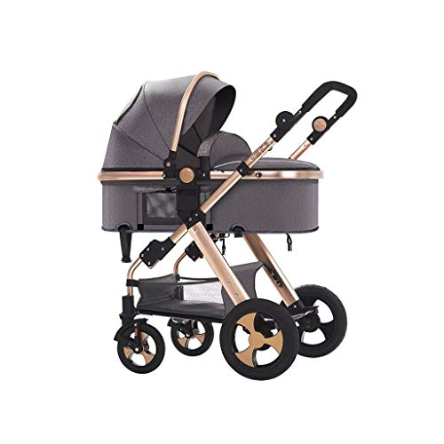 Lowest Price! LXJ Baby Stroller,High-View Baby Stroller, can sit,Infant Toddler,Reclining and Foldin...