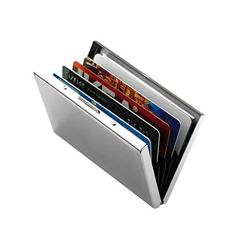 Tarjetero Tarjetero súper luz de la tarjeta de crédito del protector de Wallet, la caja del sostenedor del metal del acero inoxidable de aluminio for viajar y trabajar Porta Tarjetas de Presentacion