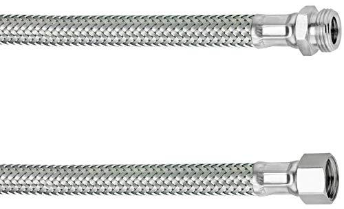 Cornat Flexibler Verbindungsschlauch - 100 mm Länge - 3/8 Zoll IG, 3/8 Zoll AG - Hochwertige Edelstahl-Umflechtung / Anschlussschlauch für Wasserhahn / Armaturenschlauch / Flexschlauch / T317309270