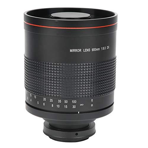 Mavis Laven Lente de Espejo Telefoto F8 de 900 mm con Anillo Adaptador de Montaje para Cámara Canon EF-Mount para Paisaje, Arquitectura, Personas, Insectos, Turismo, etc.