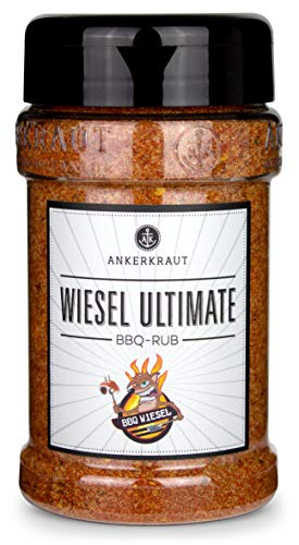 Ankerkraut Wiesel Ultimate, leicht scharfe BBQ Rub Gewürzmischung zum Grillen, 260g im Streuer