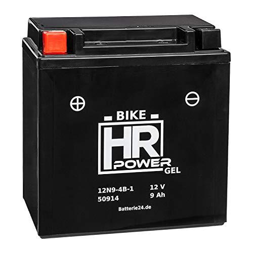 GEL Motorrad Batterie Starterbatterie 12V 9Ah 12N9-4B-1 50914 wartungsfrei