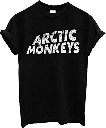 Arctic Monkeys Alex Turner Logo Band T Shirt Top T-Shirt-Medium-Schwarz