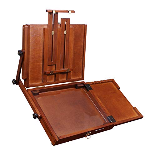 Sienna Plein Air Pochade Box, Artists Adjustable Easel and Palette Box (CT-PB-0910) - Medium