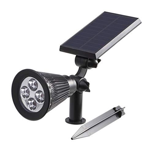 YneqhosJB buitenverlichting op zonne-energie voor buiten, waterdicht, 2 in 1 spot, solar-LED-verlichting, auto on/off, voor percal, terras, binnenplaats, tuin en landschap Warm licht.