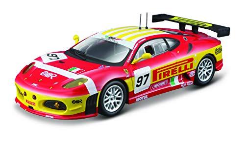 Bburago Ferrari F430 GT2 '08 - Coche en Escala 1:43, Serie Ferrari Racing, Caja de Regalo, 12 cm, Color Rojo #97...