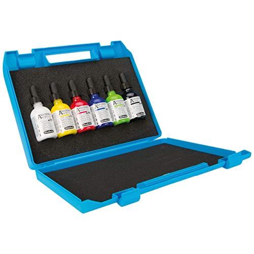 Schmincke Akademie Acryl Color Ink Kunststoff-Kasten mit 6 x 50 ml Tuben 76 746 097