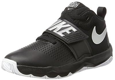 Nike Boys' Team Hustle D 8 (GS) Basketball Shoe, Black/Metallic Silver - White, 3.5Y Youth US Big Kid