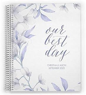 Customized Wedding Planner, Custom Engagement Gift, Wedding Organizer, Bride Planner, White Lillies by PurpleTrail (6x8) photo