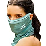 ARRUSA Unisex-Adult Ice Cotton Cooling Face Cover, Super Breathing Neck Gaiter Anti-UV& Face Scarf for Outdoor Sports...