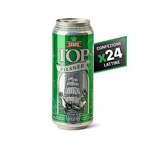 Ceres Top Pilsner - Birra Chiara - Pilsner Premium a Bassa Fermentazione - Cartone 24 Lattine da 50 cl