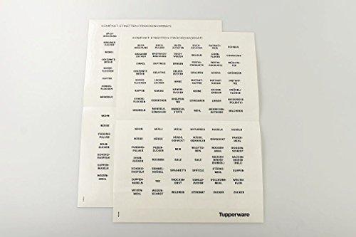 TUPPERWARE Etiketten Kompakt-Etiketten grau Klebeetiketten (2) Vorrat NEU 16876