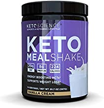Keto Science Ketogenic Meal Shake Vanilla Dietary Supplement, Rich in MCTs and Protein, Paleo Friendly, Weight Loss, 14 servings, 20.7 oz Packaging May Vary