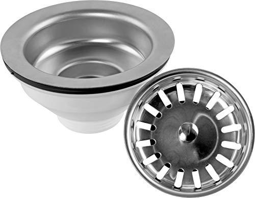 Cornat Körbchenventil für Spültische - 1 1/2 Zoll AG - Mit herausnehmbarem Siebkorb - Made in Germany Qualität/Siebkörbchen/Spülbecken-Abflussieb / T352020