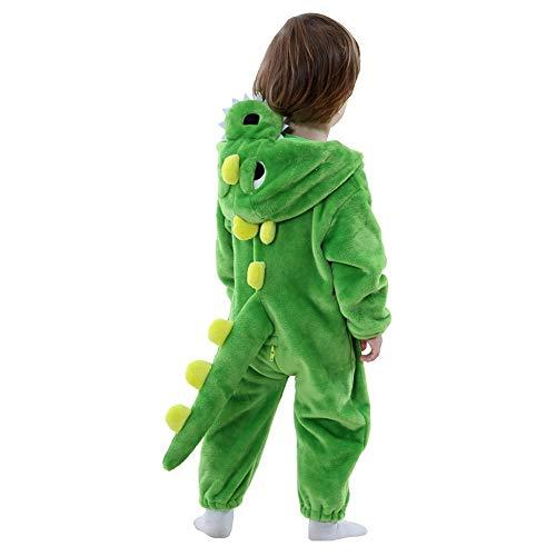 LOLANTA Drachen-Kostüm,Dinosaurier Baby Jungen Mädchen Onesie Jumpsuit Anzug Kostüm Verkleidung Geburtstags-Geschenk Weihnachts-Geschenk (12-17 Monate / 73-83 cm)