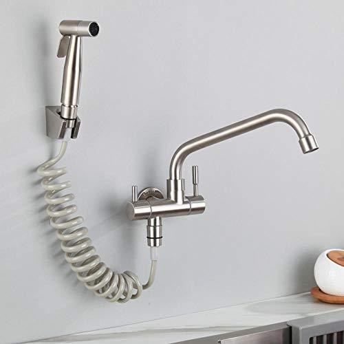 CZOOR Double paroi en acier inoxydable à double usage long 304 en acier inoxydable 304 à laver en acier inoxydable pour laver le balcon