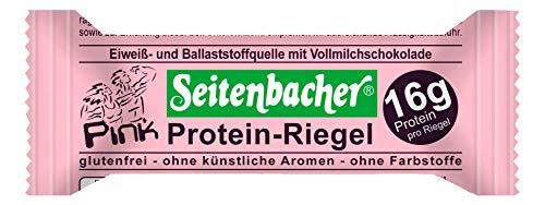 Seitenbacher Pink Protein Riegel mit echten Erdbeeren (1 x 60 g Beutel)