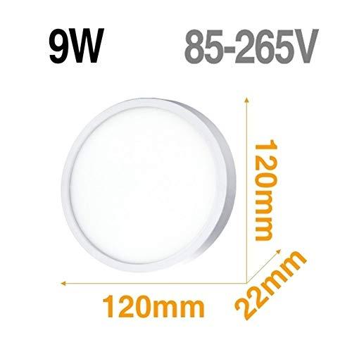 Lámpara de techo LED Panel de luz LED 48W 36W 24W 18W 13W 9W 6W abajo luz Montado en Superficie moderna lámpara de iluminación for el hogar Decoración (Body Color : Model D 9W)