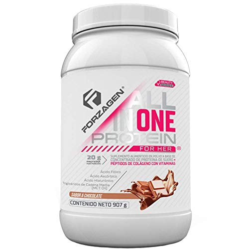 Forzagen Proteina Importada Para Mujer - 20g Proteina de colageno en polvo | Acido hialurónico | Vitaminas | MCT OIL | Acido Folico | Increible sabor a chocolate (2 lb)