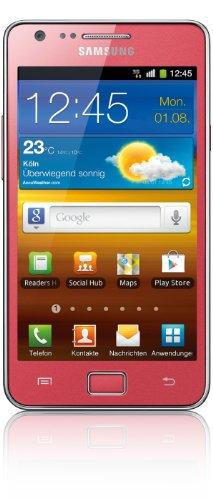 Samsung Galaxy S II i9100G DualCore Smartphone (10,9 cm (4,3 Zoll) Bildschirm, 2 Megapixel Frontkamera, Android 2.3) coral-pink
