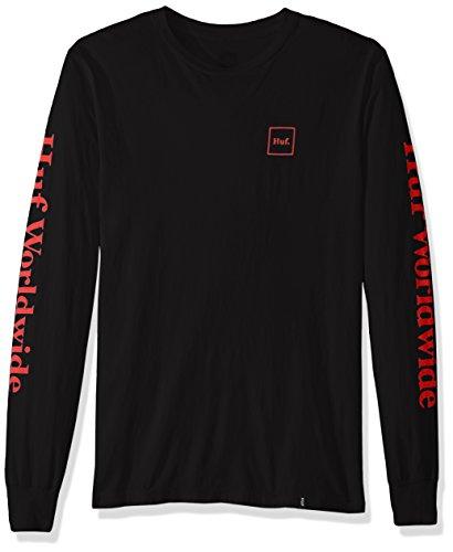 HUF Herren Domestic LS Tee T-Shirt, schwarz, Groß