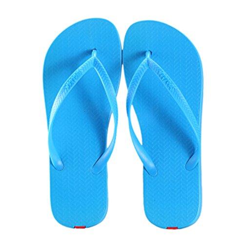 Casual Tongs Unisexe Plage Chaussons Anti-Slip Maison Slipper Bleu