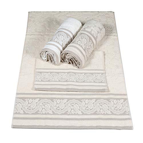 Pierre Cardin Juego de toallas 3 + 3 Vania