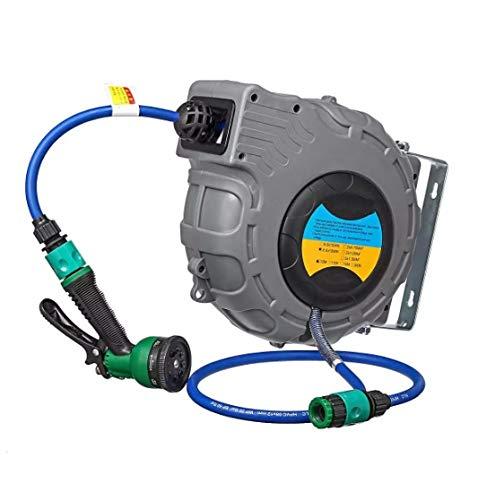 Release Auto Slanghaspel Gas Drum Met PU Clip Garen Auto Reparatie Pneumatisch Gereedschap Air Guns Stoom Auto Wasmachine Schoon Sproeier wandmontage 10 M