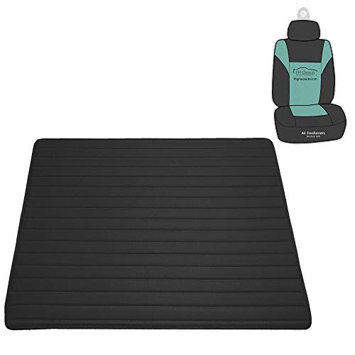 "FH Group F16500 Deluxe Heavy-Duty Faux Leather Multi-Purpose Cargo Liner, Striped, 32"", Black Color - Universal Fit for Trucks, SUVs, and Vans"