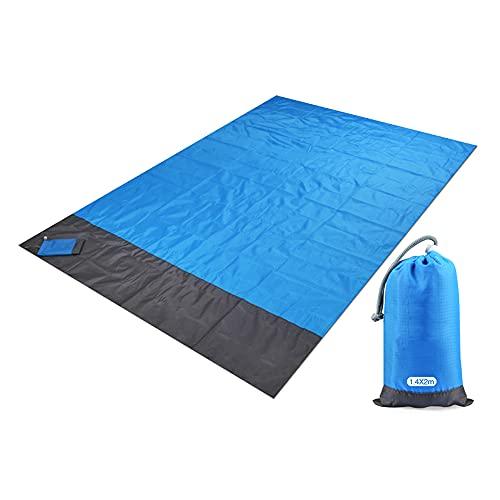 Flytise Campingmatte wasserdichte Stranddecke Tragbarer Picknickplatz im Freien Matte Picknickdecke 1.4 * 2m