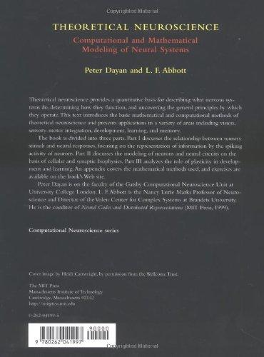 Theoretical Neuroscience – Computational & Mathematical Modeling of Neural Systems (Computational Neuroscience)