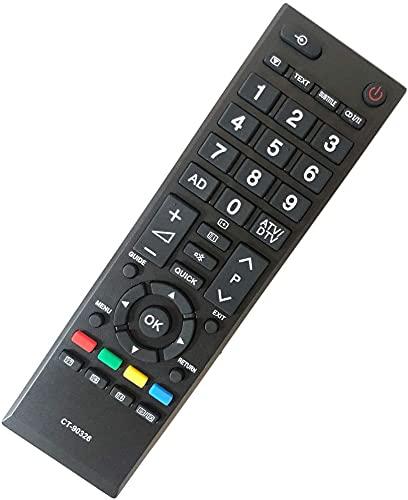FYCJI Sostituzione Telecomando Toshiba CT-90326- Nessuna Configurazione Necessaria per TV Telecomando Universale Toshiba