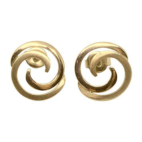 Heideman Ohrringe Damen Nodus aus Edelstahl gold farbend mattt Ohrstecker für Frauen mit Stecker Verschluss hautfreundlicher edelstahlschmuck